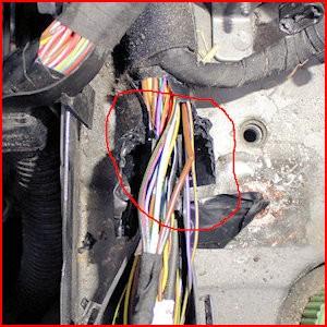 Ledningsbrud i ledningsnet på nyere bil